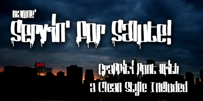 Servin' For Salute Font poster