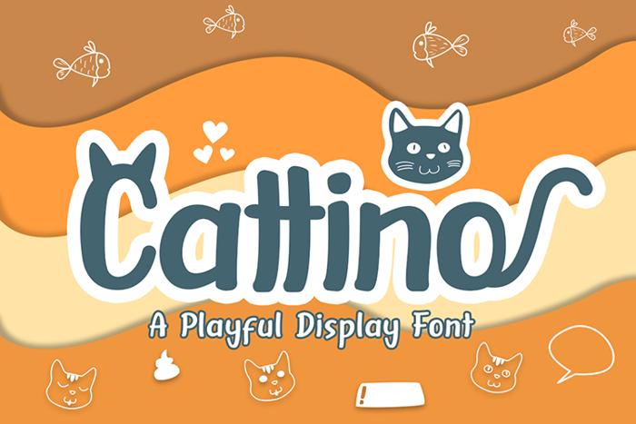 Cattino Font poster
