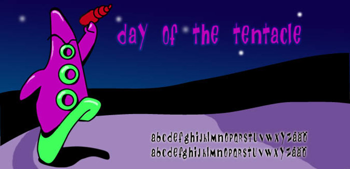 Day Of The Tentacle Font poster