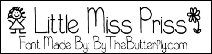 LittleMissPriss Font poster