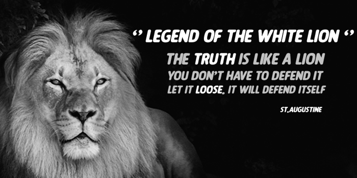 LEGEND OF THE WHITE LION Font poster