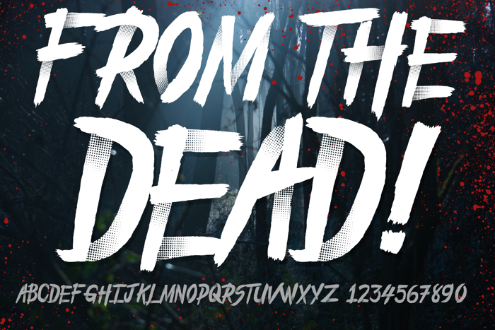 From_the_Dead Font poster