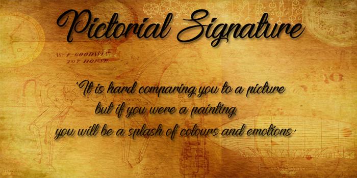 Pictorial Signature Font poster