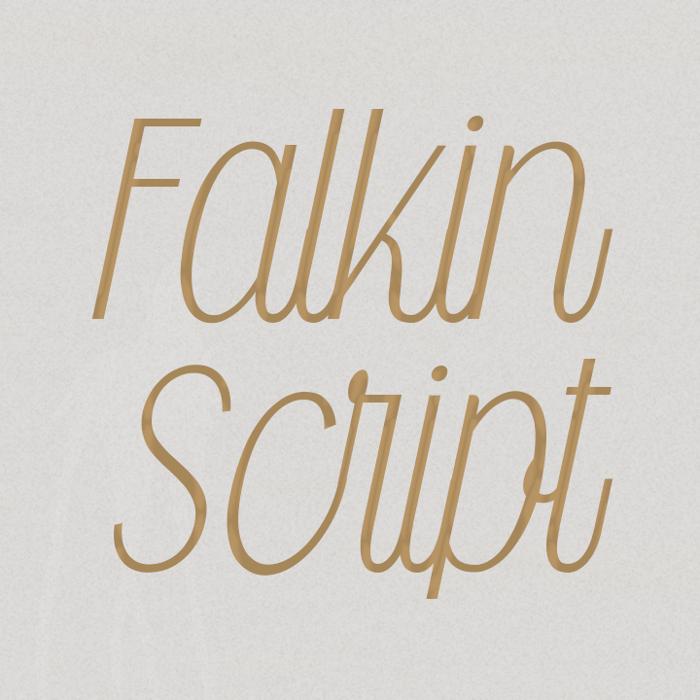 Falkin Script Font poster