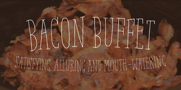 Bacon Buffet DEMO Font poster