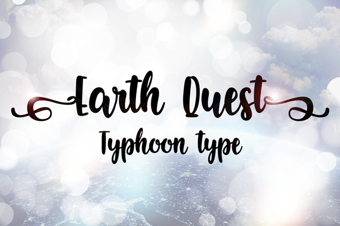 Earth Quest Font poster
