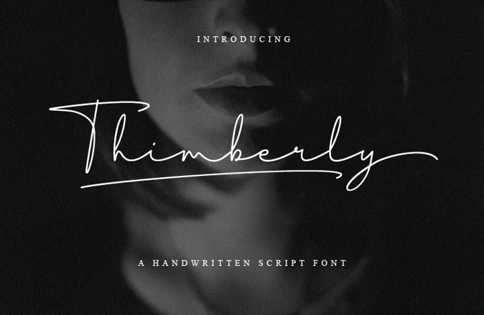 Thimberly Font poster