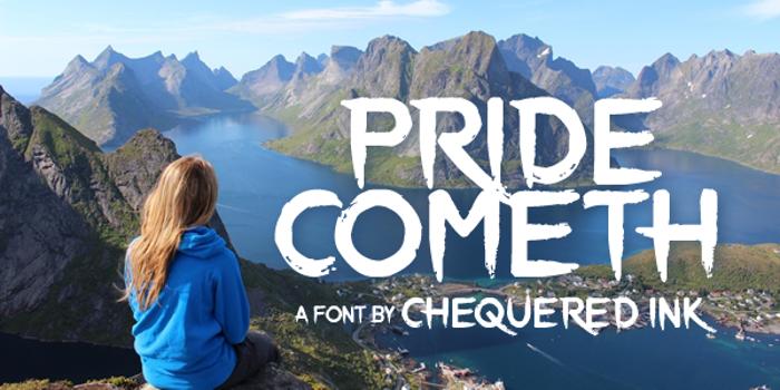 Pride Cometh Font poster