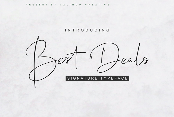 Best Deals Font poster