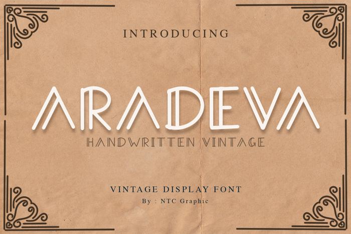 Aradeva Font poster
