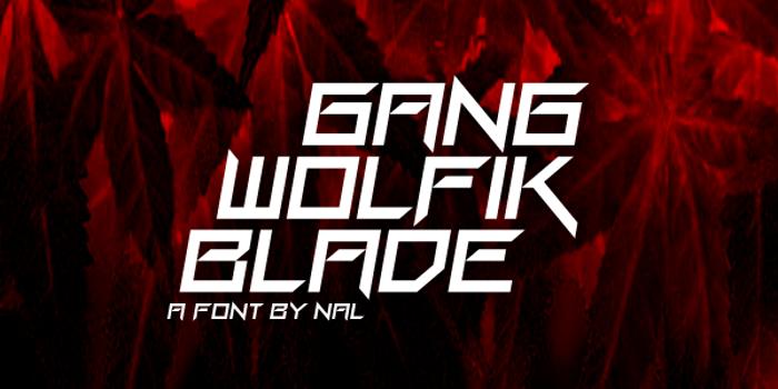 Gang Wolfik Blade poster
