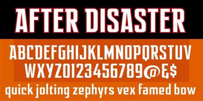 After Disaster Font poster