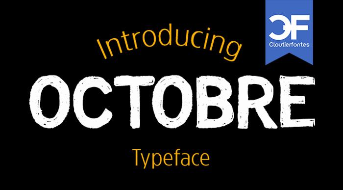CF Octobre Font poster