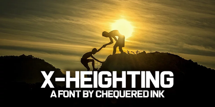 X-Heighting Font poster