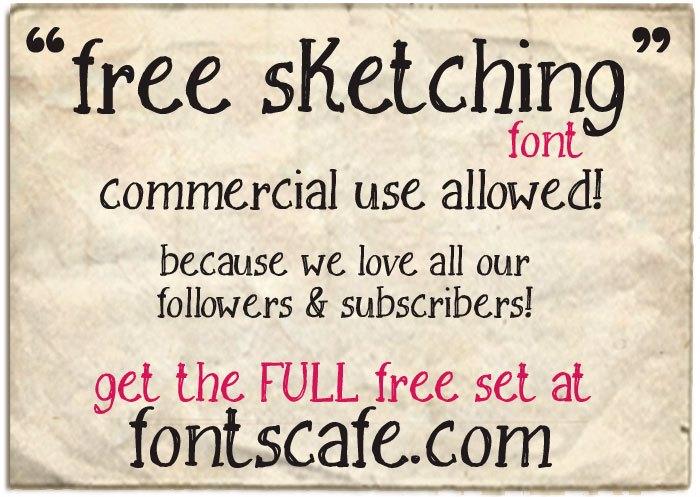 Free Sketching_free-demo Font poster