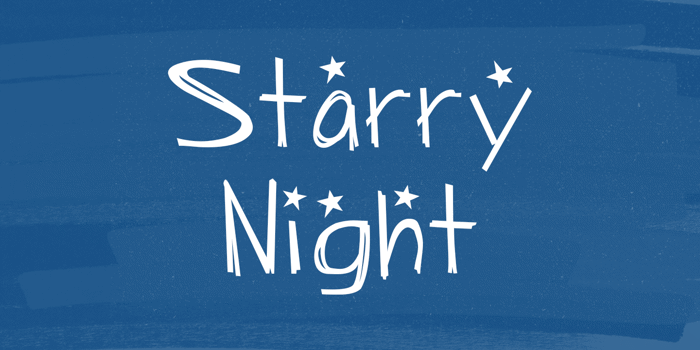 Starry Night Font poster