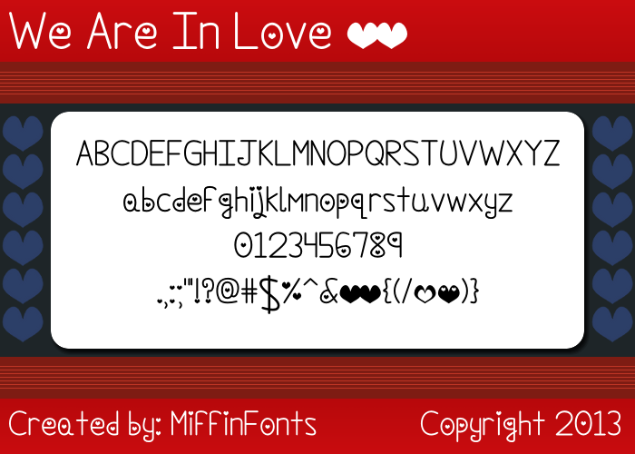 We Are In Love Font poster