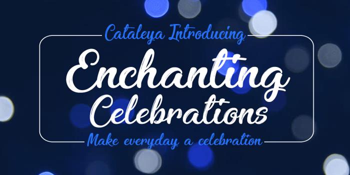Enchanting Celebrations Font poster