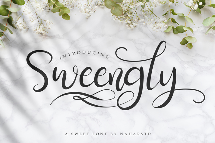Sweengly Font poster