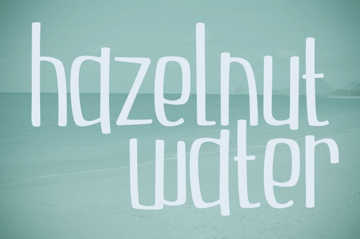 Hazelnut Water Font poster