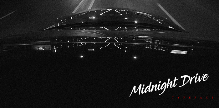 Midnight Drive Font poster