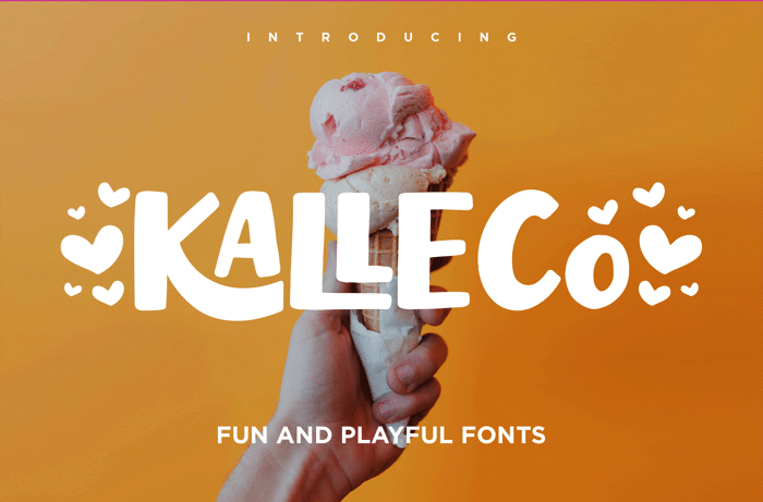 KALLECO Font poster
