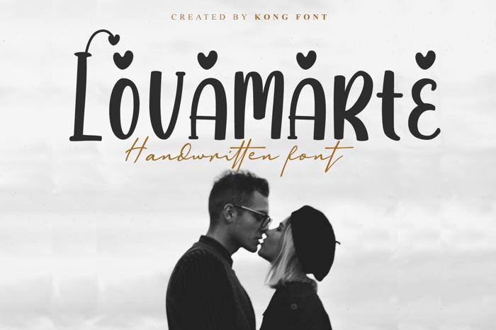 Lovamarte Font poster