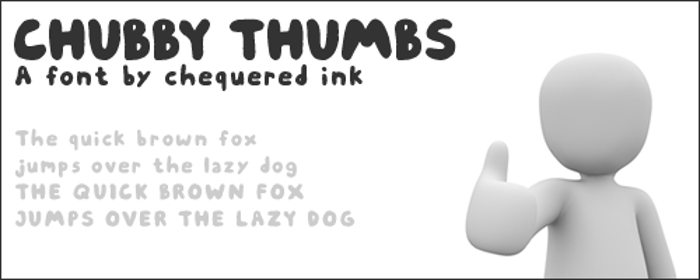 Chubby Thumbs Font poster