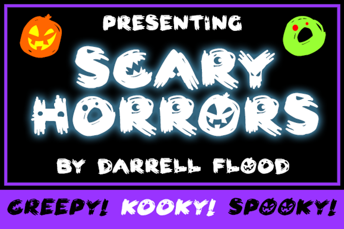 Scary HorrOrs Font poster