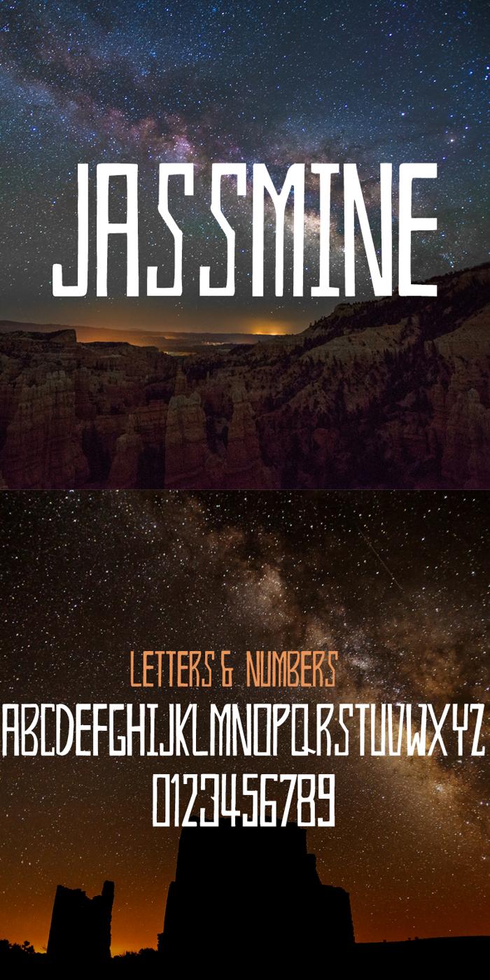 Jassmine Font poster