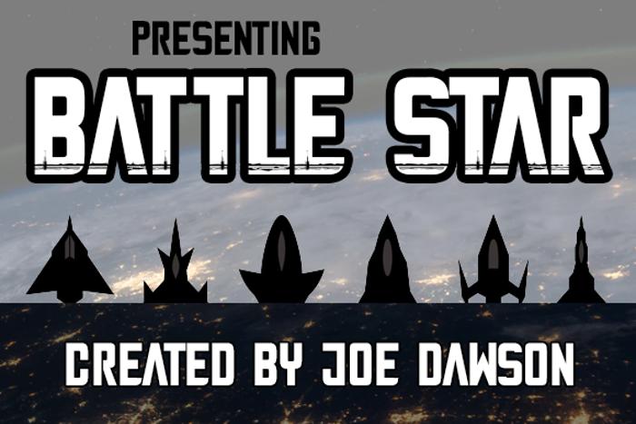 Battle Star Font poster