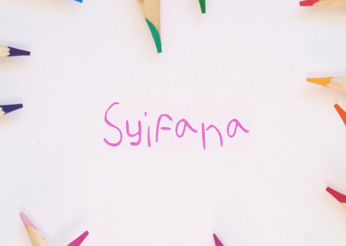 Syifana Font poster