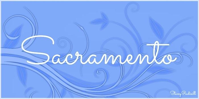 Sacramento Font poster
