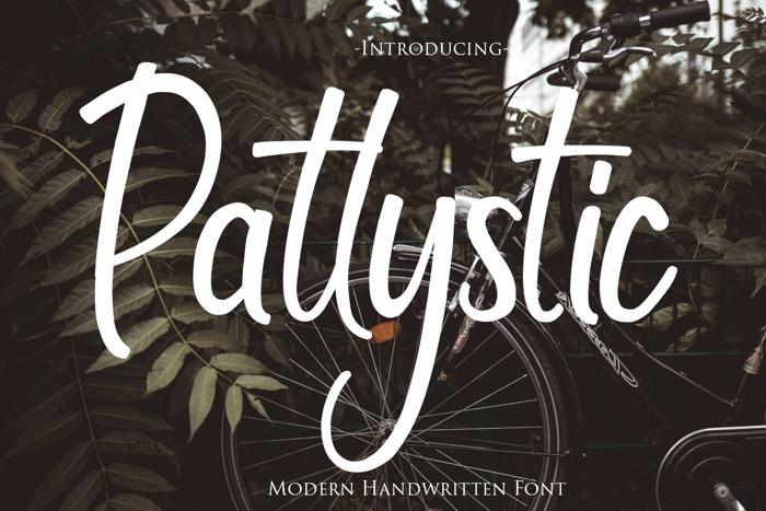 Patlystic Font poster