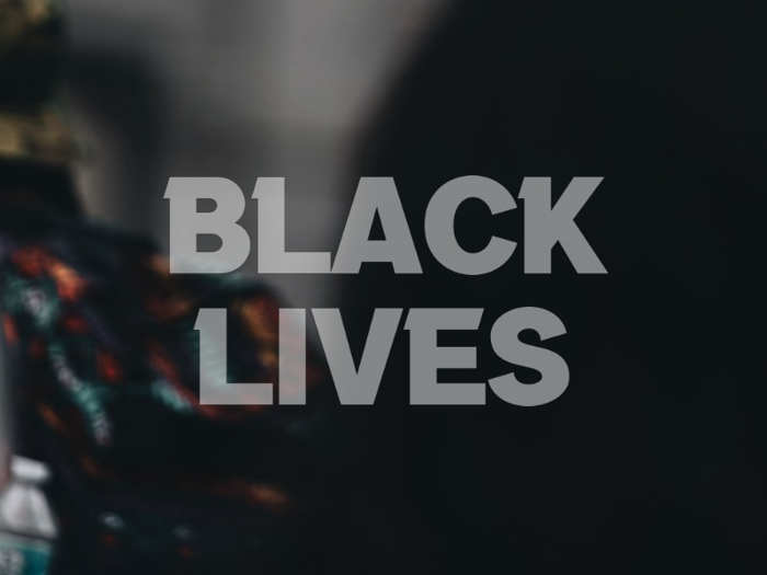 a Black Lives Font poster