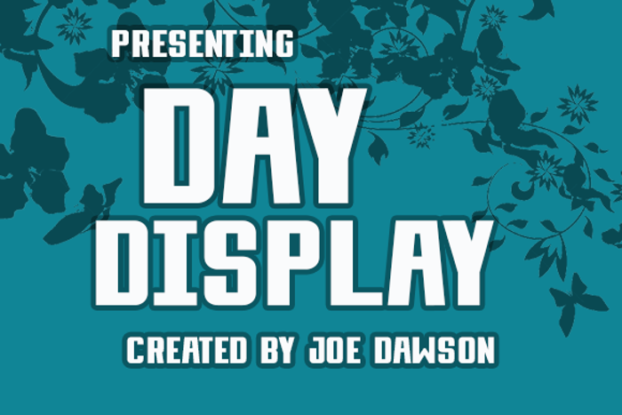 Day Display Font poster