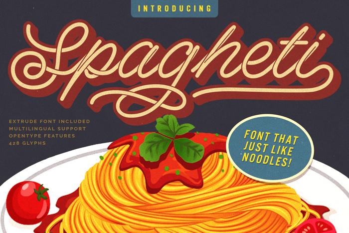 Spagheti Script Font poster