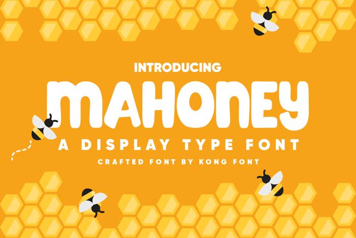 Mahoney Font poster