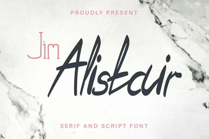 Jim Alistair Serif Font poster