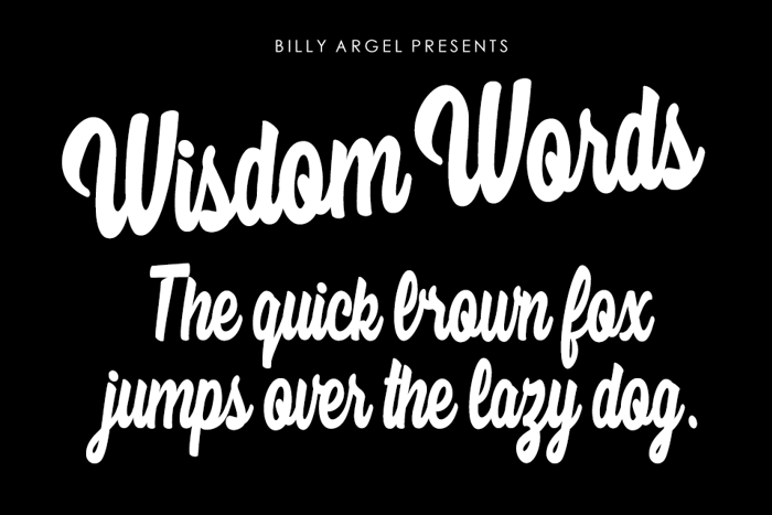 Wisdom Words Font poster