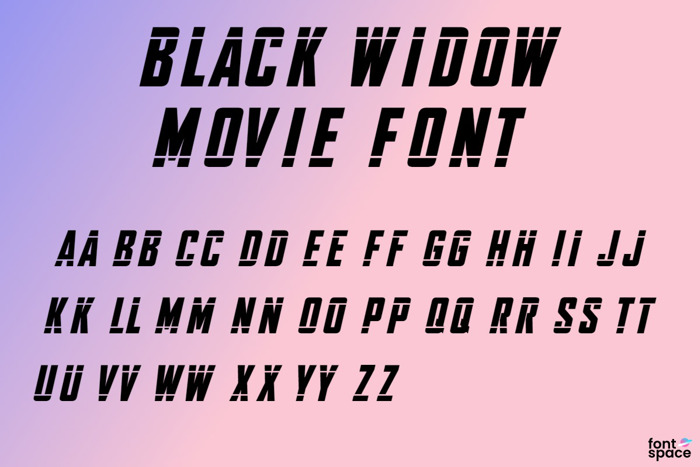 Black Widow Font Movie poster