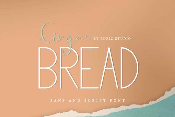 Gingar Bread Sans Font poster