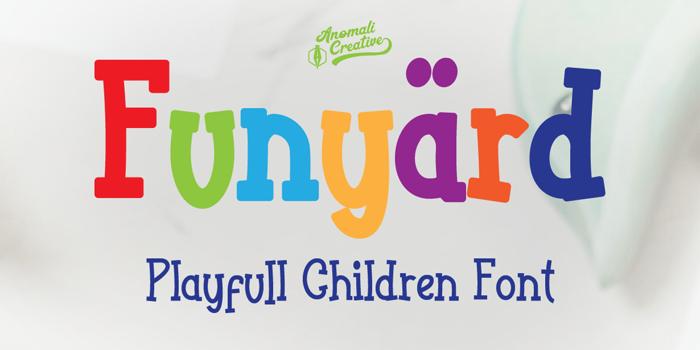 Funyard Font poster