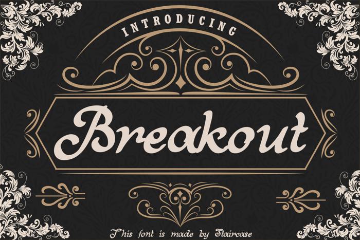 Breakout Font poster