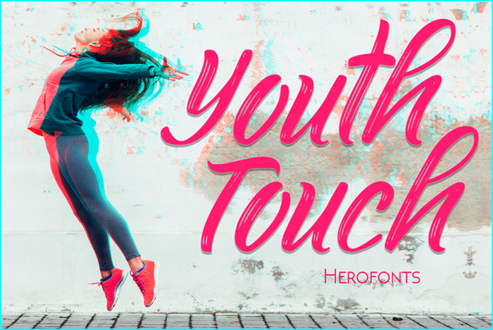 Youth Touch Font poster