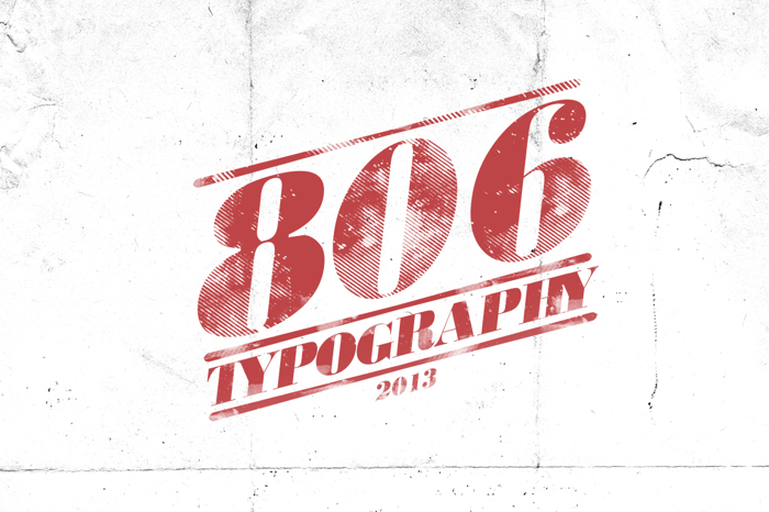 806 Typography Font poster