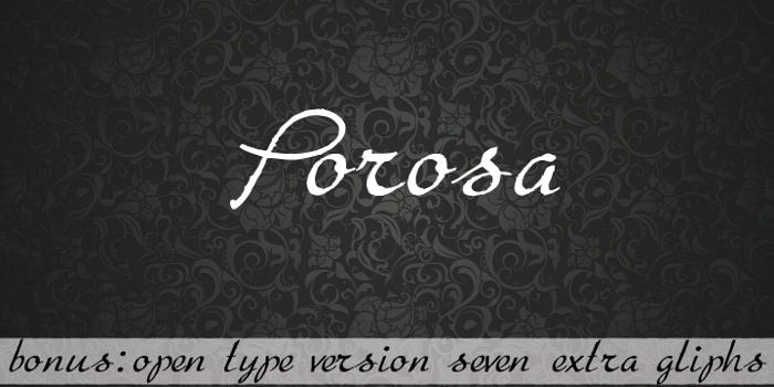 Porosa Font poster