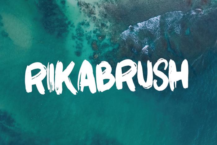 Rikabrush Font poster