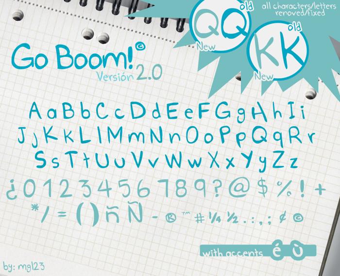 Go Boom! Font poster