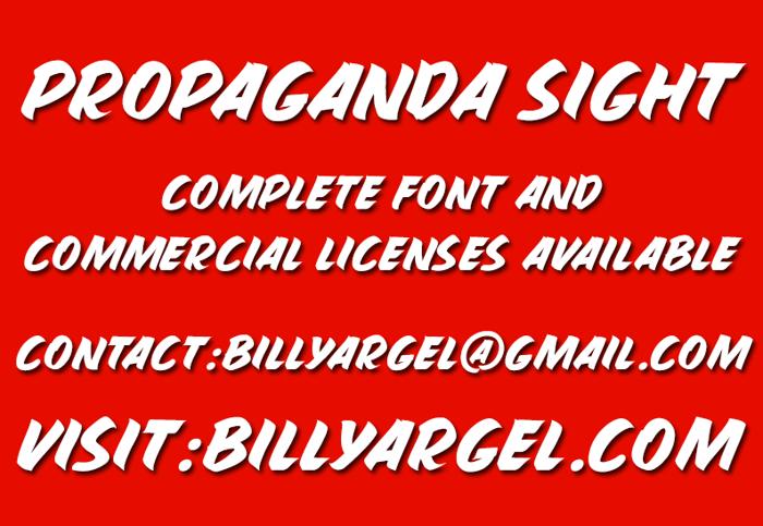 PROPAGANDA SIGHT Font poster